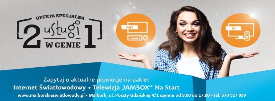 Internet Światłowodowy i Kablówka 3 Generacji w Malborku