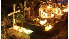 Malborski cmentarz nocą - fot.Michał Statkiewicz