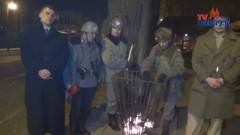 Spiżarnia: Oddział ORMO legitymujący przechodniów - 13.12.2012
