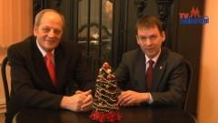 Sztum: Życzenia noworoczne składa Burmistrz Miasta i Gminy Sztum - Leszek Tabor oraz Przewodniczący Rady Miejskiej Czesław Oleks