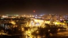 Malbork nocą - widok z wieży fot.Michał Statkiewicz 2013-02-13