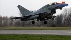 Eurofighter'y na lotnisku Malbork fot. Michał Statkiewicz - 20.04.2013