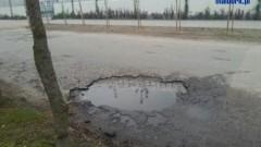 Malbork: Dziury w ulicy Chrobrego - 13.05.2013