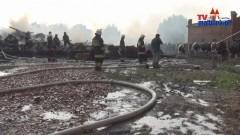 Pożar stodoły po uderzeniu pioruna w Pręgowie - 04.07.2013