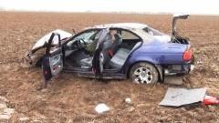 BMW WYPADŁO Z DROGI ZA STARYM POLEM (DK22). MĘŻCZYZNA W SZPITALU - 24.03.2014