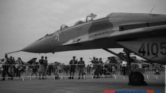 Malborski MiG-29 w Wielkiej Brytanii fot. Michał Statkiewicz