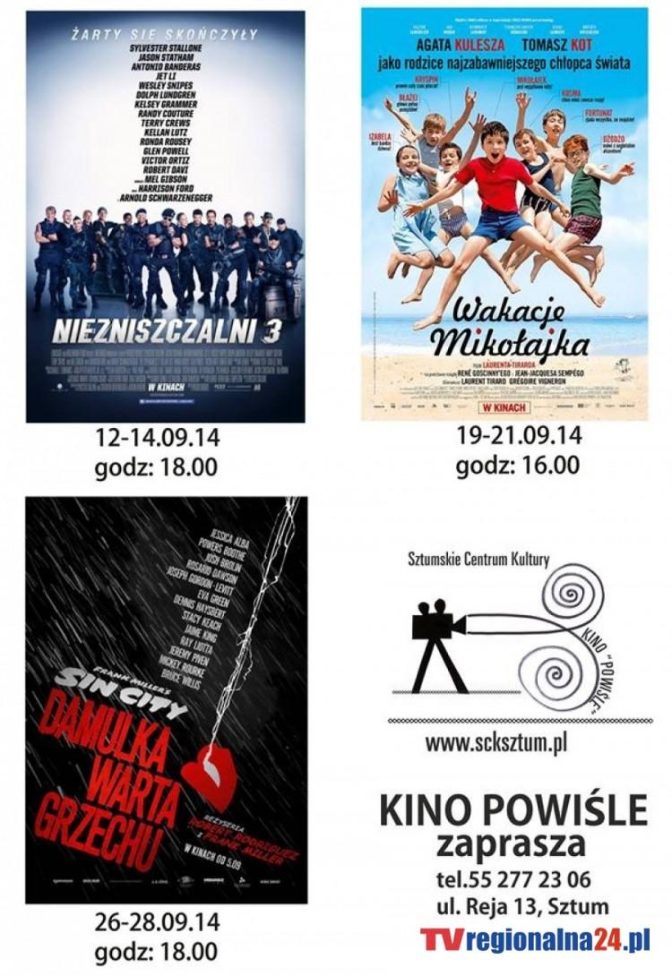 """REPERTUAR SZTUMSKIEGO KINA """"POWIŚLE"""" NA WRZESIEŃ – 01.09.2014"""