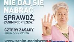 """KAMPANIA """"NIE DAJ SIĘ NABRAĆ. SPRAWDŹ, ZANIM PODPISZESZ! - 18.11.2014"""