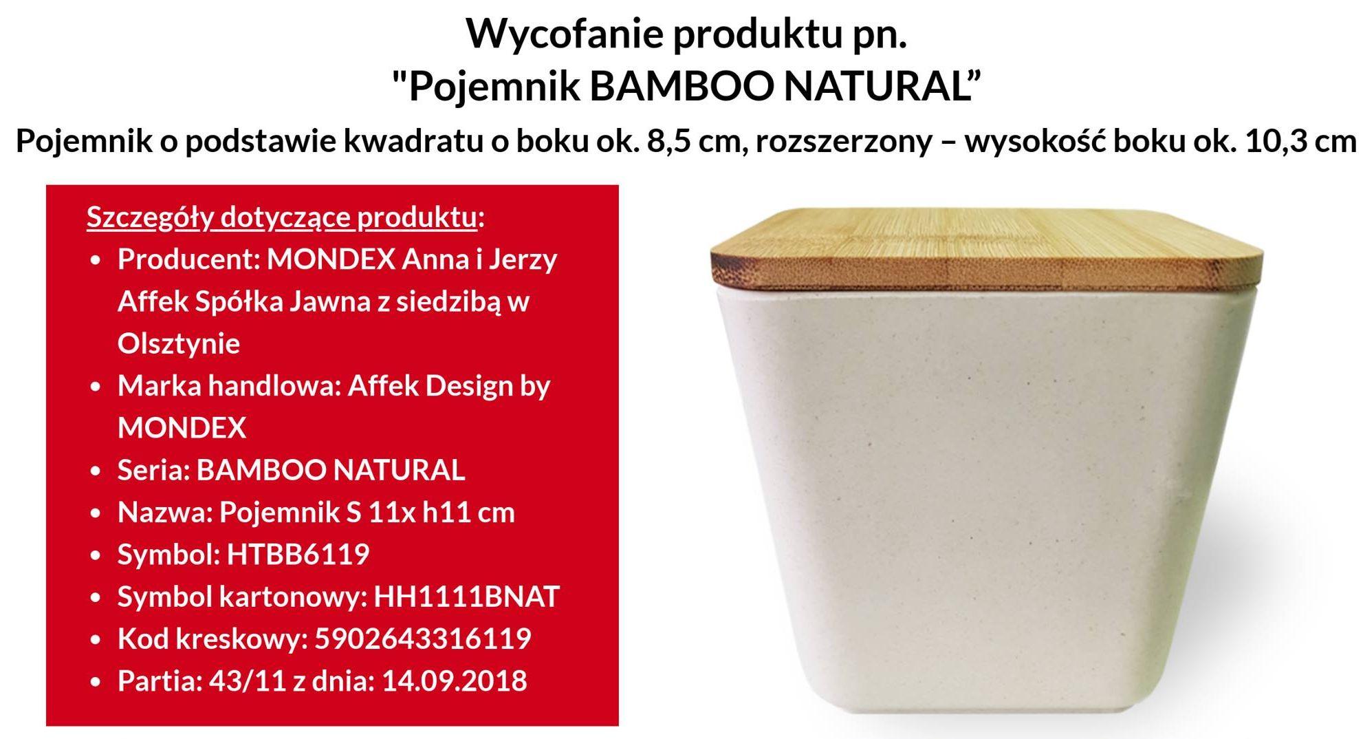 ee4002388b1cad Uwaga, ważne! Wycofanie ze sprzedaży pojemnika Bamboo Natural ...