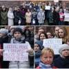 Żądają podwyżek - protest pracowników sądu w Malborku.