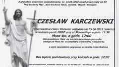Zmarł Czesław Karczewski. Żył 69 lat.