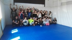Uczniowie Gimnazjum Nr 1 odwiedzili zawodników z malborskiego klubu MMA - 23.06.2016