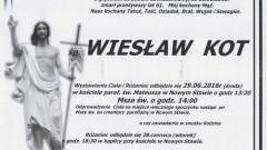 Zmarł Wiesław Kot. Żył 61 lat.