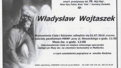 Zmarł Władysław Wojtaszek. Żył 76 lat.