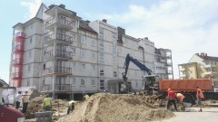 Budowa budynku mieszkalnego przy ul.Czerskiego w Malborku - prace przebiegają zgodnie z planem - 29.06.2016