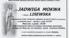 Zmarła Jadwiga Mokwa. Żyła 89 lat.