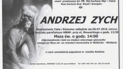 Zmarł Andrzej Zych. Żył 78 lat