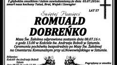 Zmarł Romuald Dobreńko. Żył 57 lat.