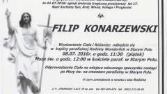 Zmarł Filip Konarzewski. Żył 17 lat.