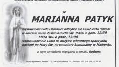 Zmarła Marianna Patyk. Żyła 84-lata.