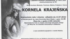 Zmarła Kornela Krajeńska. Żyła 92 lata.