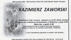 Zmarł Kazimierz Zaworski. Żył 67 lat