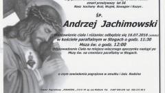 Zmarł Andrzej Jachimowski. Żył 56 lat.
