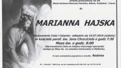 Zmarła Marianna Hajska. Żyła 94 lata.