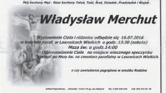 Zmarł Władysław Merchut. Żył 86 lat.