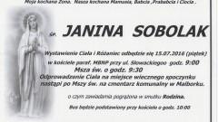 Zmarła Janina Sobolak. Żyła 86 lat