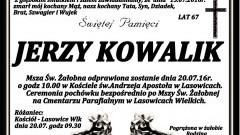 Zmarł Jerzy Kowalik. Żył 67 lat.