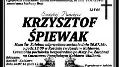 Zmarł Krzysztof Śpiewak. Żył 64 lata.