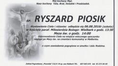 Zmarł Ryszard Piosik. Żył 69 lat.