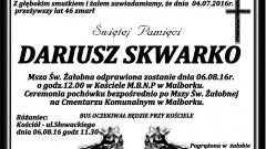 Zmarł Dariusz Skwarko. Żył 46 lat