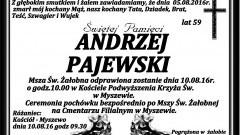 Zmarł Andrzej Pajewski. Żył 59 lat