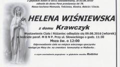 Zmarła Helena Wiśniewska. Żyła 78 lat.