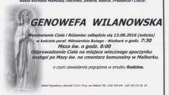 Zmarła Genowefa Wilanowska. Żyła 79 lat.