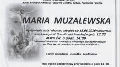 Zmarła Maria Muzalewska. Żyła 91 lat.