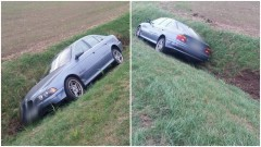 Kierowca zasnął za kierownicą? BMW wjechało do rowu za Starym Polem. Pasażerka trafiła do szpitala. – 30.09.2016