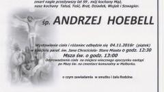 Zmarł Andrzej Hoebell. Żył 59 lat.