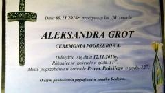 Zmarła Aleksandra Grot. Żyła 38 lat.