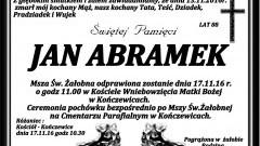 Zmarł Jan Abramek. Żył 88 lat.