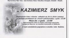 Zmarł Kazimierz Smyk. Żył 59 lat.