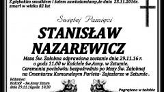 Zmarł Stanisław Nazarewicz. Żył 82 lata.