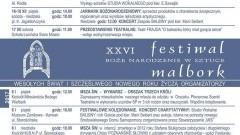 Rozpoczyna się XXVI Festiwal Boże Narodzenie w Sztuce w Malborku. Zobacz jakie atrakcje przygotowano w mieście - 01.12.2016-20.01.2017