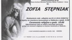 Zmarła Zofia Stępniak. Żyła 84 lata.