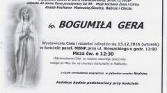 Zmarła Bogumiła Gera. Żyła 49 lat.