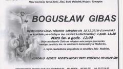 Zmarł Bogusław Gibas. Żył 58 lat.