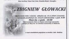 Zmarł Zbigniew Głowacki. Żył 74 lata.