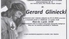 Zmarł Gerard Gliniecki. Żył 74 lata.
